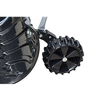 "Power Heavy Duty Rolling Snow Pusher with 6"" Pivot Wheels (Black Color)"