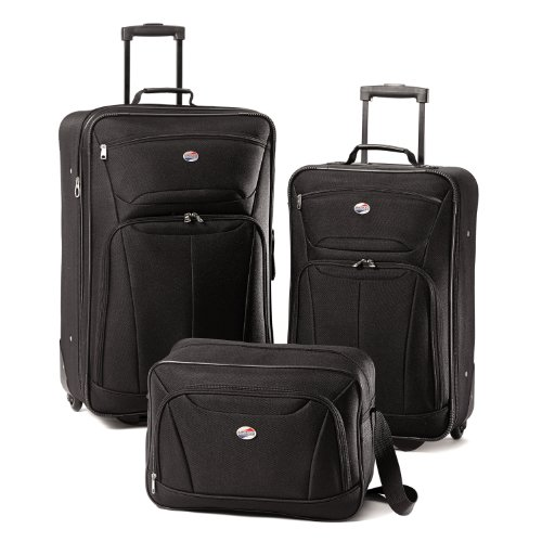 American Tourister Luggage Fieldbrook II 3 Piece Set, Black, One Size image