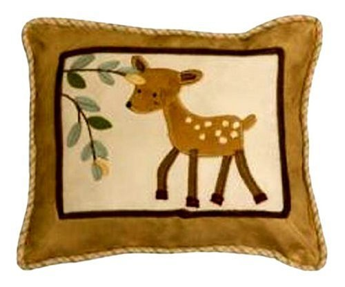 Lambs and Ivy Enchanted Forest Decorative Pillow, Tan/Brown/Green - 1
