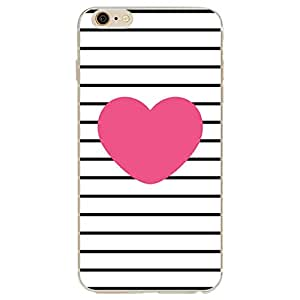 KoKo City Love Heart Printed Flexible Soft Silicone TPU Case for iPhone 6S 6 4.7Inch, Scratch-Resistant Protective Case