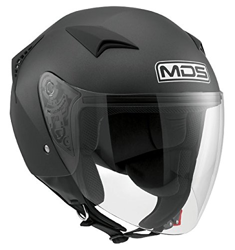 MDS Casco Moto G240 E2205 Solid, Flat Black, S