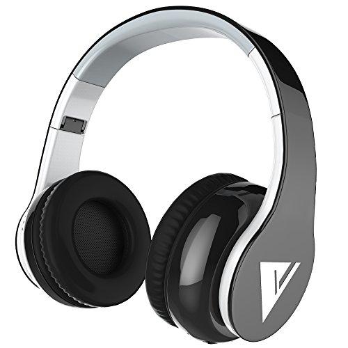 (ヴォマック)Vomach Bluetooth折り畳み式ワイヤレスヘッドホン Hi-fi ステレオオンイヤータイプヘッドホン マイク付きイヤホン調整可能なヘッドバンド スマートホン タブレット用 ブラック