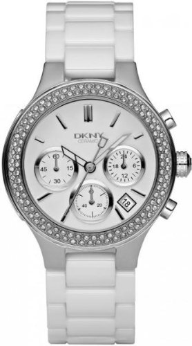 DKNY Ceramic Glitz Chronograph White Dial Women's watch #NY4985