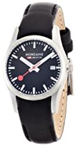 MONDAINE WATCH A629.30341.14SBB LEATHER BLACK