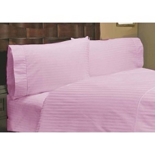 Srplinen 600Tc 3-Piece Duvet Cover Set 100% Egyptian Cotton Twin Extra Long (Pink Striped) front-1028163