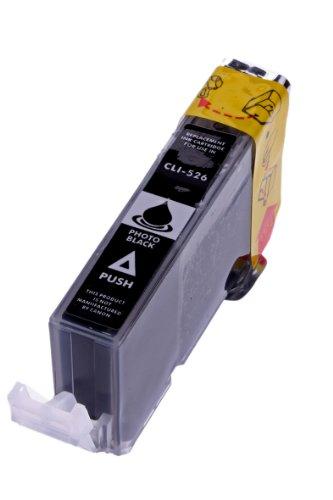 Merotoner® - Tintenpatrone für Canon CLI 526 , CLI 526 mit Chip Canon Pixma kompatibel (Black/Schwarz)