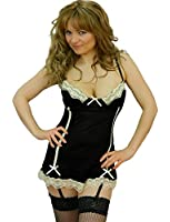 Yummy Bee Lingerie Lace Babydoll Dress Suspender Set Underwired + Stockings Plus Size 6 - 24