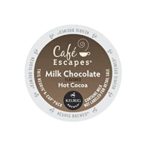 Cafe Escapes Milk Chocolate Hot Cocoa, Keurig K-Cups, 72 Count