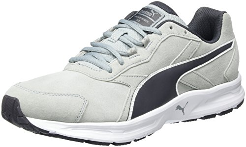 Puma Descendant v3 Suede, Scarpa da Corsa Uomo, Grigio (quarry-periscope-white 02), 41