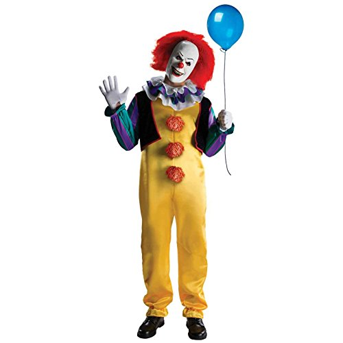 Pennywise Adult Costume It Horror Movie Dancing Clown Scary Evil Stephen King