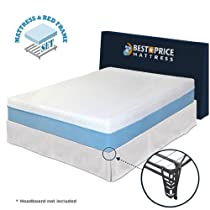 Hot Sale Best Price Mattress Queen 10-inch Gel Memory Foam Mattress + Bed Frame Set with bracket + Skirt