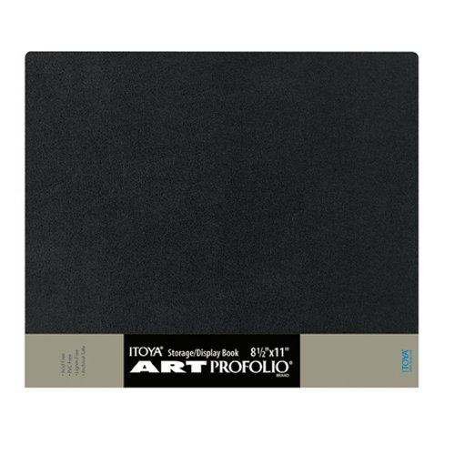 Itoya ART Profolio 8 1/2 x 11 Storage/Display Book Portfolio-24 Sleeves/48 Views