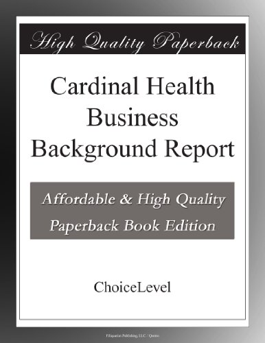 cardinal-health-business-background-report