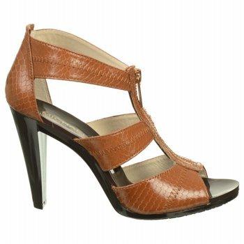 MICHAEL MICHAEL KORS Women's Berkley T-Strap Sandal (Luggage Snake 6.0 M)