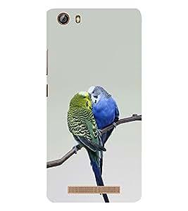 EPICCASE love birds Mobile Back Case Cover For Gionee Marathon M5 lite (Designer Case)