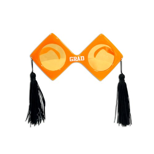 GRAD Fanci-Frames (orange) Party Accessory  (1 count) (1/Pkg)