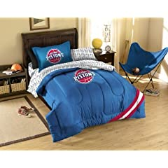 Detroit Pistons 7 Pc FULL Size Bed in a Bag (Comforter, 1 Flat Sheet, 1 Fitted Sheet,... by Northwest