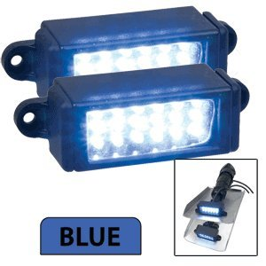 Perko Surface Mount Trim Tab Underwater Lights - Pair - Blue