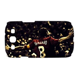3D Print England Football Super Star&Steven.George.Gerrard Theme Case Cover for Samsung Galaxy S3 I9300- Personalized Hard Cell Phone Back Protective Case Shell-Perfect as gift by Gerrard