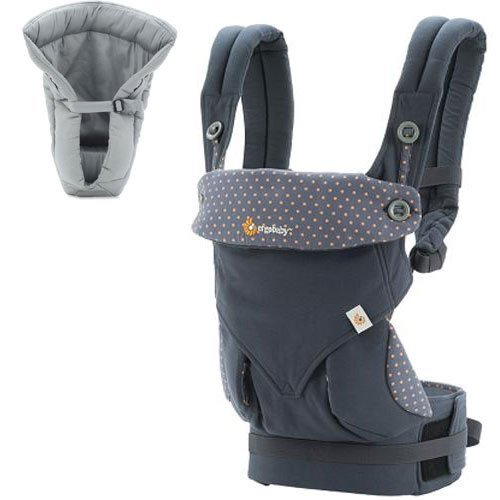 Ergo Baby 4 Position 360 Dusty Blue Carrier with Grey Insert (Ergo Baby Carrier Four Position compare prices)