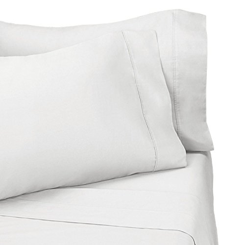 100% Viscose From Bamboo Silky Sheet Set, California King Size, White