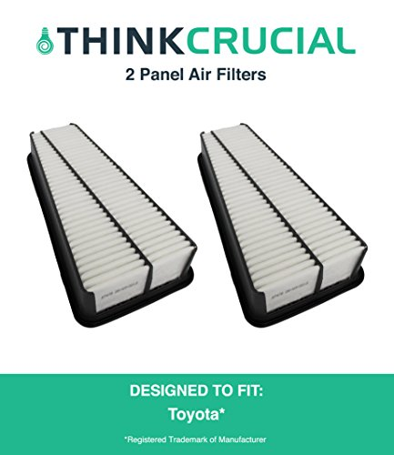 2 Panel Air Filter Fits Toyota Truck 4RUNNER, Toyota Truck Tacoma, Toyota Truck Tundra & More, Compare to Part # A35578 & CA9683, Designed & Engineered by Think Crucial