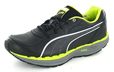 Mens PUMA BODYTRAIN Keep Fit Fitness Leather Trainers Shoes BLACK Size 7.5