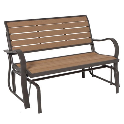 Lifetime Glider Bench, Faux Wood Construction, # 60055