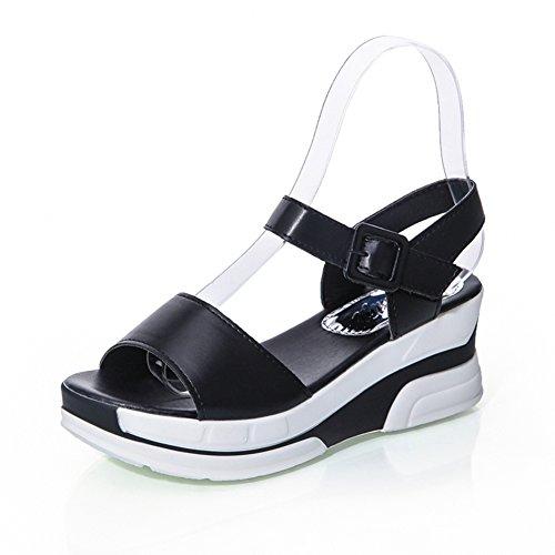 Fin de l'été avec une épaisseur wedge Sandals/Chaussures plates occasionnelles de joker