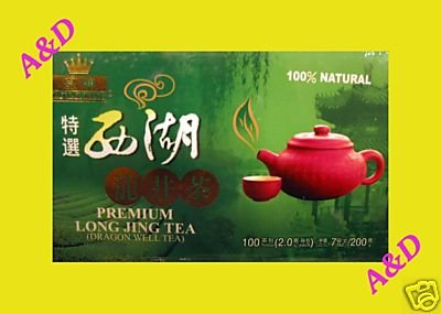 7 OZ West Lake Premium Long Jing Dragon Well Green Tea 100 Bags