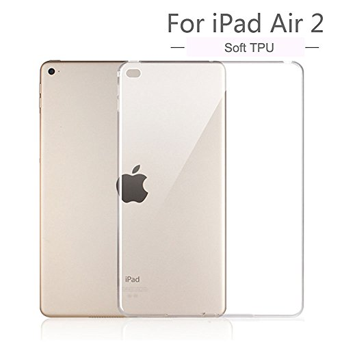 iPad Air II TPU Bumper Case, Ultra-Thin Flexible Silicone Gel Protective Case Cover for 9.7 inch iPad Air 2 - Crystal Clear (Protective Covers For Ipad 2 compare prices)