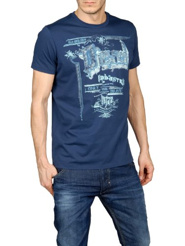 Diesel Tmadron Mens T-Shirt in Blue (X-Small)