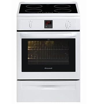Brandt KIP915W cuisinière - fours et cuisinières (Autonome, Blanc, Electrique, induction, 220 - 240 V, Convection, conventionnel, décongeler, Grill)