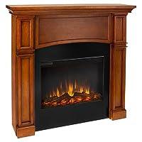 Real Flame Bradford Slim Line Electric Fireplace - Pecan