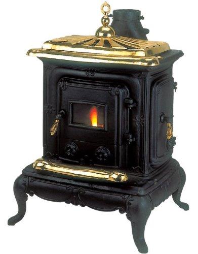 Stufa prezzi stufa a legna in ghisa dusty mod parlor standard 5 5 kw con vetro termico 70 kg - Stufa in ghisa prezzo ...