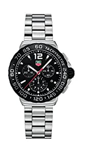 TAG Heuer Men's CAU1110.BA0858 Formula 1 Black Dial Chronograph Steel Watch