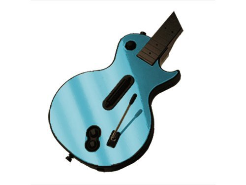Guitar Hero III 3 (GH3) for Xbox 360 or PS3 Skin - NEW - SKY CHROME MIRROR system skins faceplate decal mod (Xbox 360 Warranty Sticker compare prices)