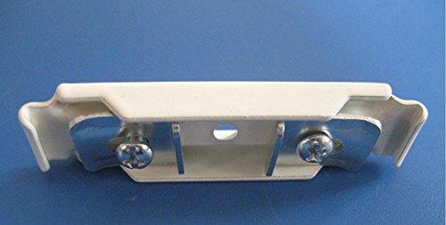 Supports de Fixation Double Plafond pour Set Mini-Rail / Maxi-Rail de Rideau et Double Rideau Cintrable à la Main - Finition Blanc