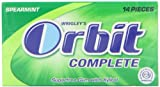 ORBIT COMPLETE Spearmint Sugar Free Chewing Gum 14 Tabs (Pack of 12)
