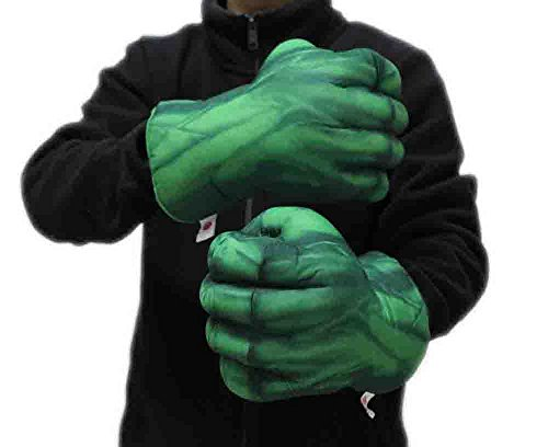 Green Cosplay the Hulk Stuffed Gloves 1 Pair Kids Gift