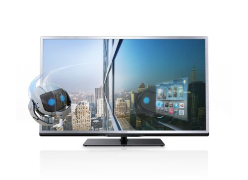 Philips 40PFL4508K/12 102 cm (40 Zoll) 3D-LED-Backlight-Fernseher, EEK A+ (Full HD, 200Hz PMR, DVB-T/C/S, CI+, Smart TV, WiFi) silber