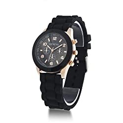 Geneva analog Black Dial womens Watch (g1998_D)