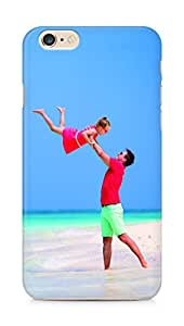 Amez designer printed 3d premium high quality back case cover for Apple iPhone 6s Plus (Happy Father and his adorable little daughter at tropical beach)