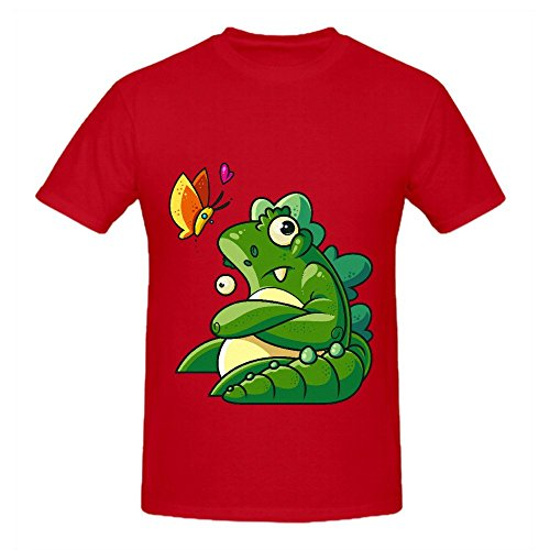 unamused-godzilla-mens-o-neck-design-tee-shirts-red
