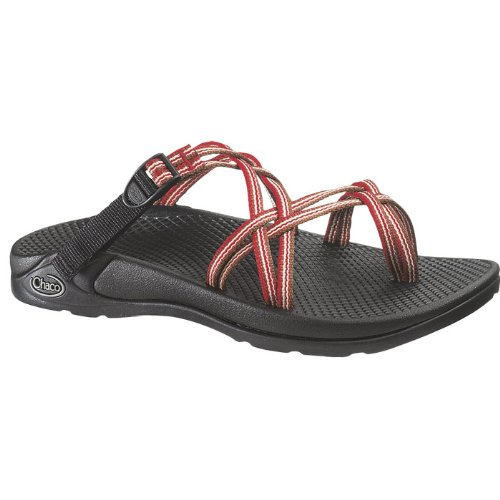 Beautiful Chaco ZX2 Sandals For Women In Multi Red