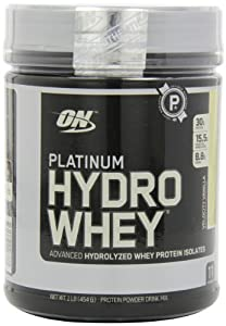 Optimum Nutrition Platinum Hydro Whey, Velocity Vanilla, 1 Pound (Pack of 3)