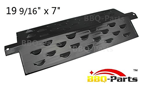 bbq-parts PPF411 (1-pack) Universal Porcelain Steel Heat Plate, Heat Shield, Heat Tent, Burner Cover, Vaporizor Bar, and Flavorizer Bar Replacement for Aussie 7710.8.641, Aussie 7710S8.641 Gas Grill Models (19 9/16