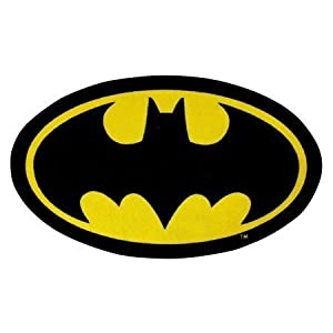 Childrens/Kids Batman Logo Bedroom Floor Rug/Mat from Batman