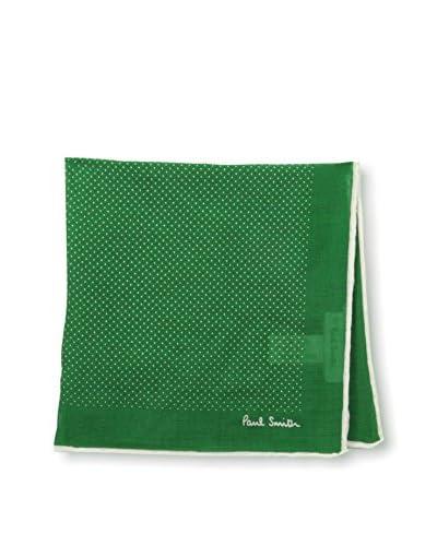 Paul Smith Men's Pocket Square, Green Polka Dot