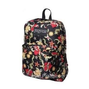 30c06e320e19 Jansport Superbreak Backpack (Black Tattoo Love) on PopScreen